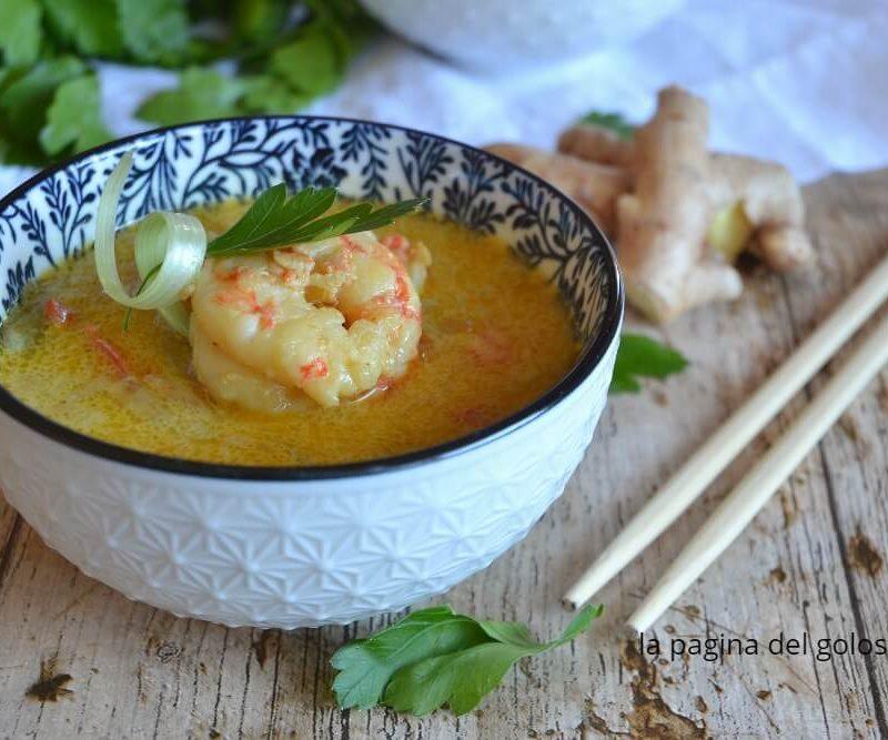 Ricetta Zuppa Thai Con Gamberi.Zuppa Di Gamberi Al Latte Di Cocco E Verdure Zuppa Alla Thailandese La Pagina Del Goloso